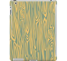 Green/yellow wooden texture iPad Case/Skin