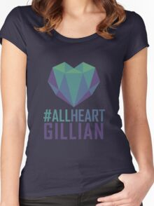 #AllHeartGillian - Blue Women's Fitted Scoop T-Shirt