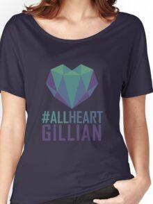 #AllHeartGillian - Blue Women's Relaxed Fit T-Shirt