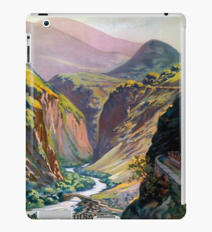 Route des Alpes, French Travel Poster iPad Case/Skin