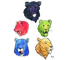 Voltron Lions Portrait Set Photographic Print