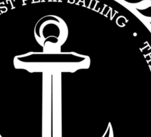 Boating Anchor t-shirt - East Peak Apparel Sticker