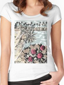 Healing flower of Rugmini 2 Women's Fitted Scoop T-Shirt