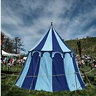 Blue Striped Tent by LydiaBlonde