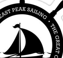 Boating t-shirt wheel - East Peak Apparel Sticker