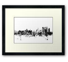 Calcutta (Kolkata) India Skyline Framed Print