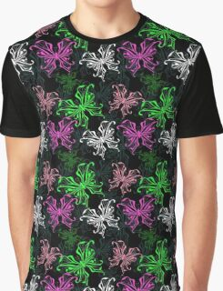 Vivid openwork Butterfly on black Graphic T-Shirt
