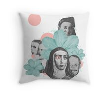 Floral Juxtaposition Throw Pillow