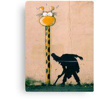 Surprised Giraffe Canvas Print