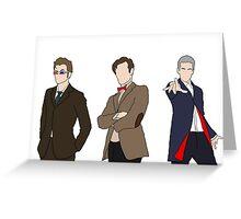 Three Doctors Greeting Card
