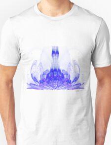 Blue Bloom - Abstract Fractal Artwork Unisex T-Shirt