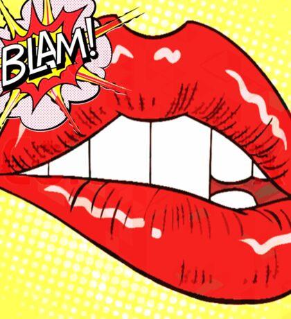 Blam Mouth - Pop Art Style Sticker