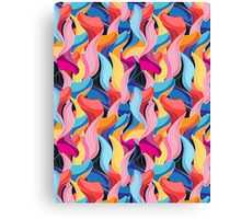 Seamless graphic pattern of waves  Canvas Print