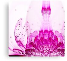 Purple Flower - Abstract Fractal Artwork Canvas Print