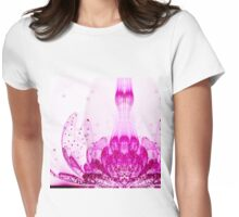 Purple Flower - Abstract Fractal Artwork Womens Fitted T-Shirt