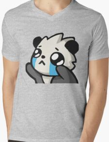 Panda Mens V-Neck T-Shirt