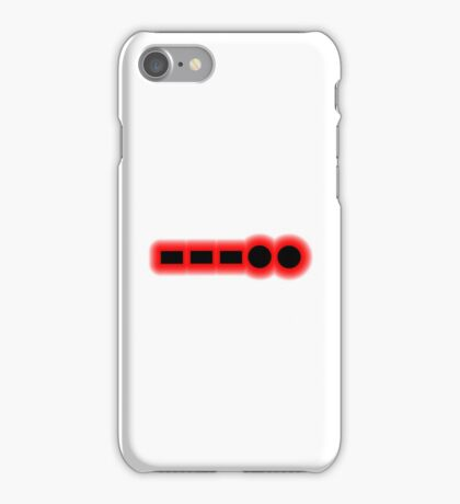 Morse Code Number 8 iPhone Case/Skin