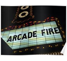 Arcade Fire Theater Poster