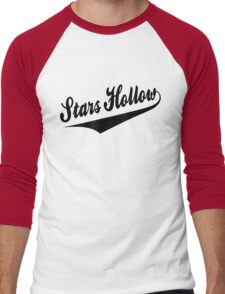 Stars Hollow - Retro Baseball Style, Black Font Men's Baseball ¾ T-Shirt