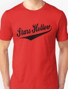 Stars Hollow - Retro Baseball Style, Black Font Unisex T-Shirt
