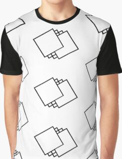Square Pattern Graphic T-Shirt