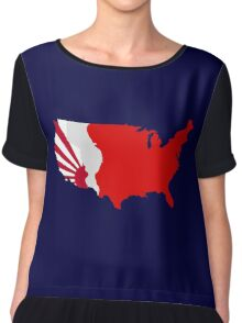 The Man in the High Castle Map Chiffon Top