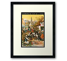 La Bretagne Pittoresque, French Travel Poster Framed Print