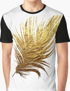 Golden Feather Graphic T-Shirt