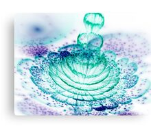 Turquoise Flower - Abstract Fractal Artwork Canvas Print