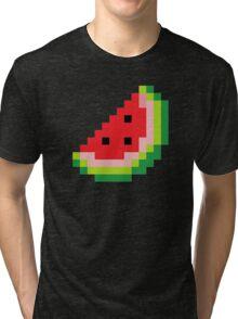 Melon Pixel Tri-blend T-Shirt