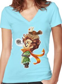Hawk Hunter Women's Fitted V-Neck T-Shirt