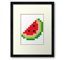 Melon Pixel Framed Print