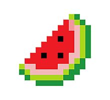 Melon Pixel Photographic Print