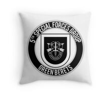 5th Special Forces Throw Pillow