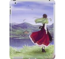 The green haired girl in red iPad Case/Skin