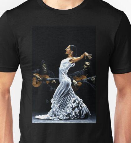 Concentracion del funcionamiento del flamenco Unisex T-Shirt
