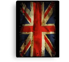 grunge british flag Canvas Print