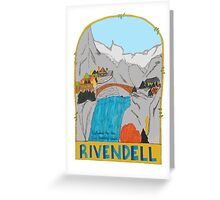 Rivendell Retro Travel Poster Greeting Card