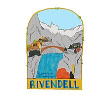 Rivendell Retro Travel Poster Photographic Print