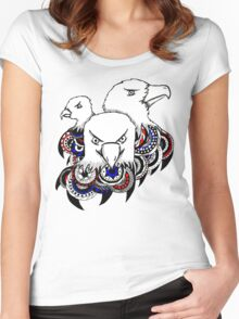 Mandala Bald Eagles Women's Fitted Scoop T-Shirt