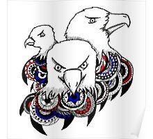 Mandala Bald Eagles Poster