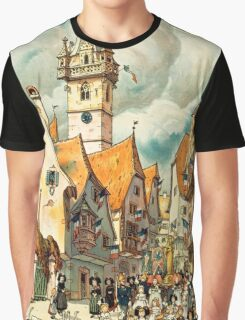 Obernai, French Travel Poster Graphic T-Shirt