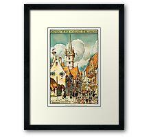 Obernai, French Travel Poster Framed Print