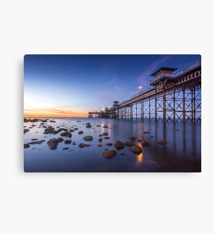 Llanduno Pier Sunset Canvas Print
