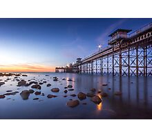 Llanduno Pier Sunset Photographic Print