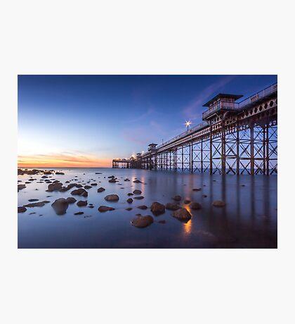 Llanduno Pier Sunset Photographic Print