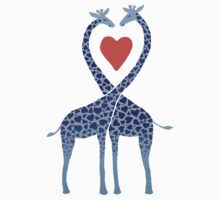 Giraffes in Love - A Valentine's Day Illustration Kids Tee