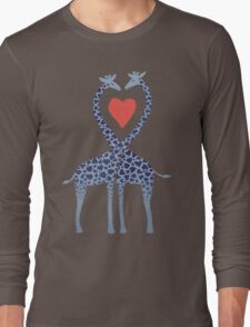 Giraffes in Love - A Valentine's Day Illustration Long Sleeve T-Shirt
