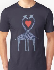 Giraffes in Love - A Valentine's Day Illustration Unisex T-Shirt
