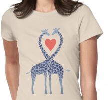 Giraffes in Love - A Valentine's Day Illustration Womens Fitted T-Shirt